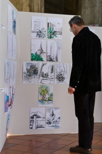 ASRM - Architekten zeichnen; Bilderflut - Vernissage-2