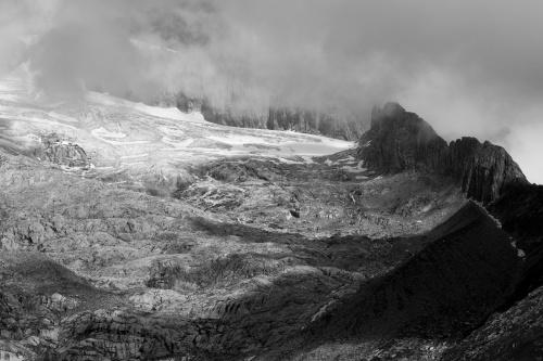 Blick auf den Oberaletschgletscher