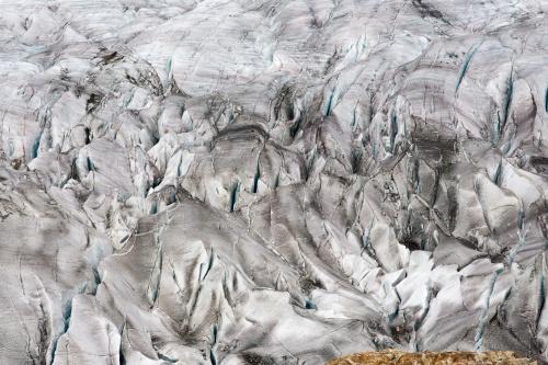 Gletscherspalten und Gletscherlicht