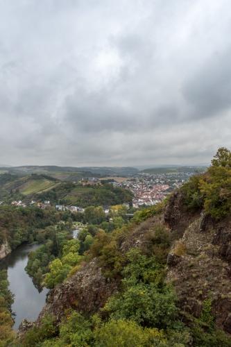 Blick vom Rheingrafenstein Richtung Bad Kreuznach