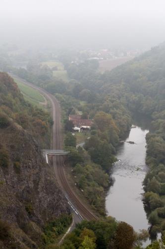 Nahe u. Eisenbahn Richtung Oberhausen a. d. Nahe