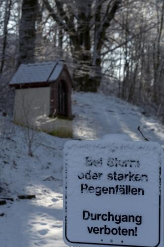 Kreuzweg und Hutebaeume am Battenstein