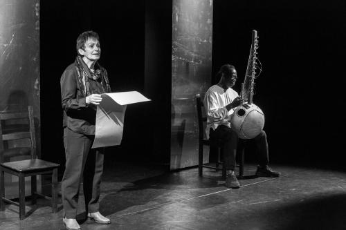 Elisabeth Uloth liest Gedichte von Muepu Muamba, Aziz Kuyateh - Kora